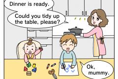 英語にトライ 食事編-1
